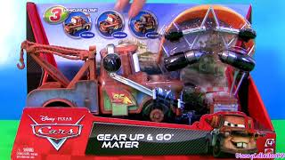 getlinkyoutube.com-Cars 2 Gear Up and Go Lightning McQueen With Mater Buildable FunToys Review Disney Pixar