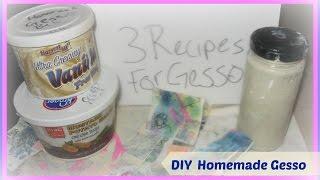 getlinkyoutube.com-How to Make Homemade Gesso Tutorial/ Using DIY Gesso and different Art Mediums