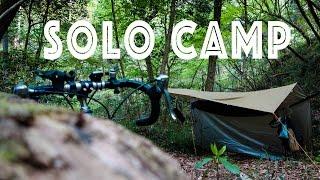 getlinkyoutube.com-ロードバイクで行くソロキャンプ 春のハンモック野営 HAMMOCK CAMP