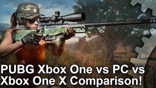 PUBG - Xbox One vs PC vs Xbox One X Graphics Comparison