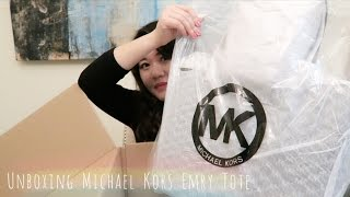 getlinkyoutube.com-Unboxing Michael Kors Emry Tote