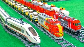 getlinkyoutube.com-FANTASTIC Lego trains in motion on a huge layout!