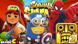 getlinkyoutube.com-Despicable Me 2 Minion Unlimited Spiderman Temple Run 2 Subway Surfers World Tour Paris