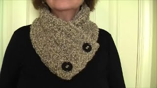 getlinkyoutube.com-Crochet Cozy Neck Warmer, easy tutorial