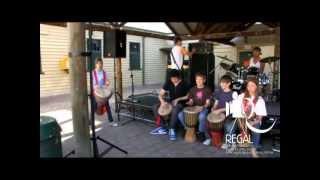 getlinkyoutube.com-Ashton Irwin 5SOS Drummer - African Drum Group
