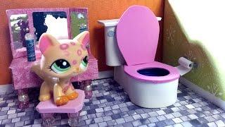 getlinkyoutube.com-How to Make an LPS Bathroom Toilet : Doll DIY