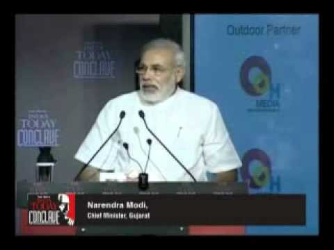 Narendra Modi Speech at india today conclave 2011