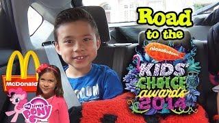 Auf dem Weg zu den Nickelodeon Kids 'Choice Awards!