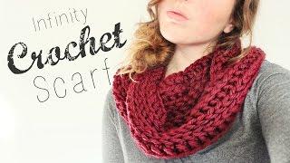 getlinkyoutube.com-Crochet Infinity Scarf // Crochet Beginner // Veronica Marie