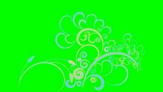 getlinkyoutube.com-4K Ornament Growth Green Sceen Royalty Free Animation
