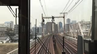 40分遅れの快速 高槻〜大阪間外側走行wwwww 2017-3/23-②