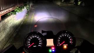 getlinkyoutube.com-1. CB1100 スフィアライト LED H4 ノーマル状態