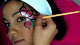 getlinkyoutube.com-Flower makeup