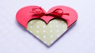 getlinkyoutube.com-How to Make - Greeting Card Valentine's Day Heart - Step by Step DIY   Kartka Walentynki