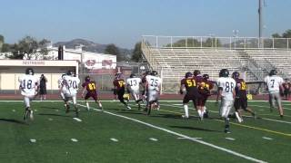 getlinkyoutube.com-West Covina Freshman Bulldogs vs Chino Hills Freshman Huskies Football 2012