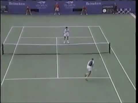 Henman vs Muster - US Open 1997 Highlights