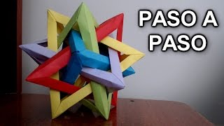 getlinkyoutube.com-Tetraedro Intersectado De Origami ¡TUTORIAL FACIL! - Intersecting Tetrahedra Origami