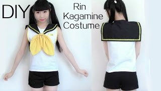 getlinkyoutube.com-DIY Rin Kagamine Cosplay Costume