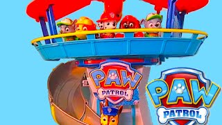 "getlinkyoutube.com-PAW PATROL Parody Nickelodeon ""Paw Patrol LOOKOUT PLAYSET"" with Chase + Paw Patrol Cruiser Toys"