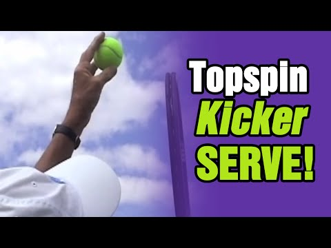 Tennis Lessons - Master The Topspin (Kick) Serve | Tom Avery Tennis
