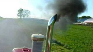 getlinkyoutube.com-international 1206 361 turbo diesel black smoke show rollin' coal