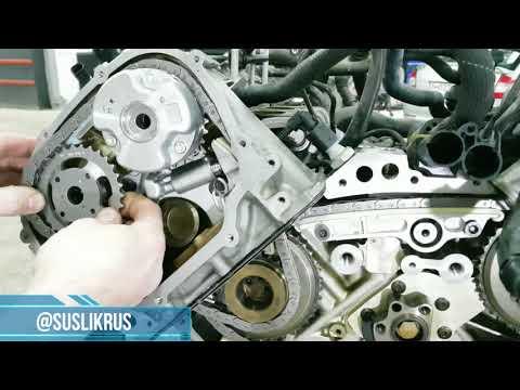 Полное обновление цепного привода на двигателе V6 AUDI