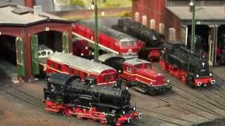 getlinkyoutube.com-Amazing Model Railroad Layout in HO Scale with Cab Passenger Ride