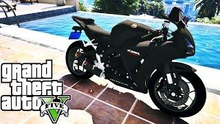 getlinkyoutube.com-GTA V HONDA CBR 1000RR FIREBLADE 2014 INDO AO ENCONTRO DE MOTO NA GROVE E FUGA- MOD MOTO