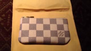 getlinkyoutube.com-Louis Vuitton Azur Clés/Key Pouch (Unboxing)