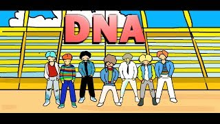 BTS DNA PAINT (ANIMATION)