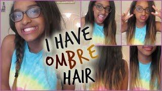 getlinkyoutube.com-DIY TEMPORARY OMBRE HAIR || Stema Hair