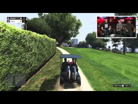 GTA 5: Playing Golf - IGN Live