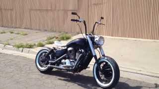 getlinkyoutube.com-Honda Shadow 1100 Bobber C2M