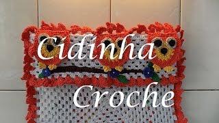 getlinkyoutube.com-Croche-Capa Fogão Corujinhas(4Bocas)-Passo A Passo-Parte 1/5