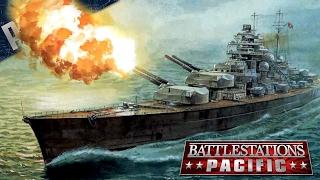 BATTLESHIP Bismarck MOD - Battlestations: Pacific Gameplay