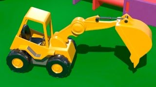 getlinkyoutube.com-Cartoni Animati per Bambini - Costruire una scavatrice e imparare a contare!