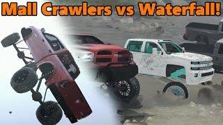 getlinkyoutube.com-Spin Tires | MALL CRAWLERS vs WATERFALL