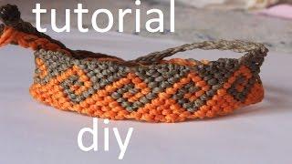 getlinkyoutube.com-como hacer una pulsera macrame ola griega modelo 4