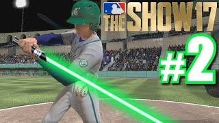 LUKE SKYWALKER'S FIRST HOME RUN! | MLB The Show 17 | Road to the Show #2