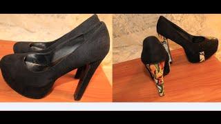 getlinkyoutube.com-How to design your heels with fabric