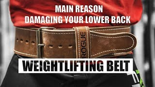 WEIGHT LIFTING BELT is the reason for weak abs? Weakens your Lower back? TRUTH