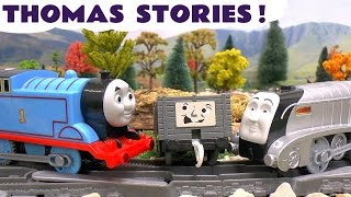 getlinkyoutube.com-Thomas And Friends Play Doh Diggin Rigs Accident Crash Rescue Stories with Minions Trackmaster