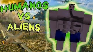 getlinkyoutube.com-(HUMANOS) TOUGH GUY VS (ALIENS) LYCANITE MOD| COMBATES MINECRAFT| SALVANDO AL MUNDO