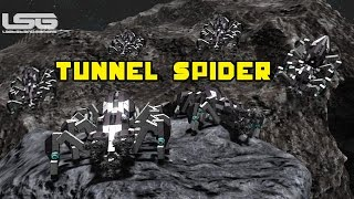 getlinkyoutube.com-Space Engineers - Tunnel Spider, 8 Legged Mining Machine