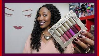 getlinkyoutube.com-Stila Eternally Yours Liquid Lipstick Set + Swatches & First Impression