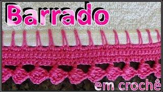 getlinkyoutube.com-Barrado em crochê para pano de prato toalha de rosto