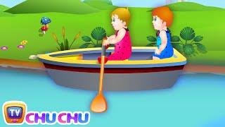 getlinkyoutube.com-Row Row Row Your Boat Nursery Rhyme with Lyrics - Lullaby Songs for Babies by ChuChuTV