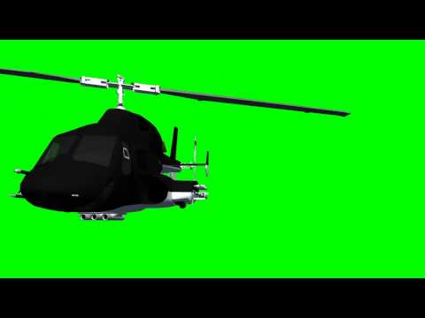 Airwolf Helicopter -  free green screen effects for your video