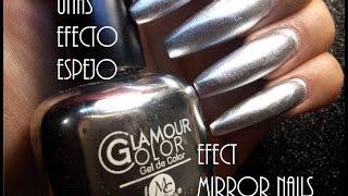 getlinkyoutube.com-Uñas Efecto Espejo/ Efect Mirror Nails