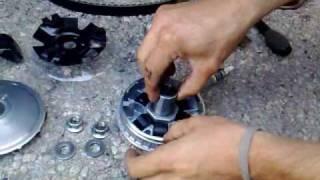 getlinkyoutube.com-montage vario Malossi (ancienne référence !) SYM GTS 125